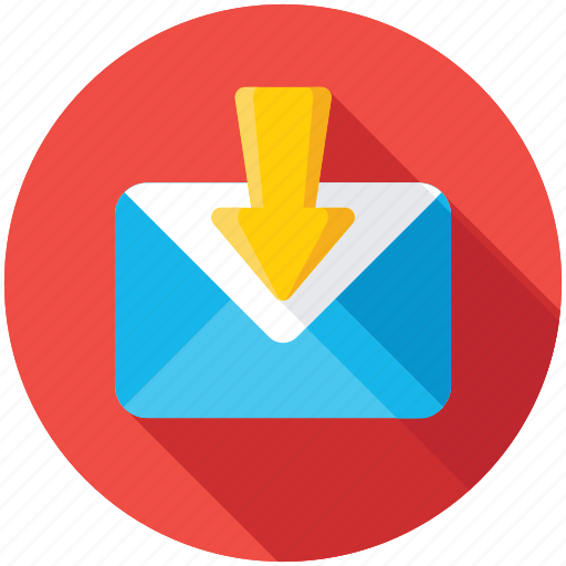 download email, inbox, incoming email, mailbox, newsletter icon