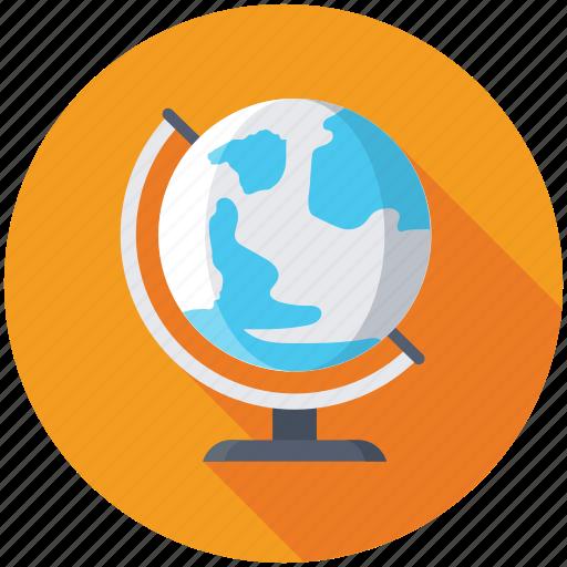 desk globe, geography, school supplies, table globe, tabletop globe icon