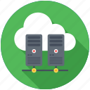 cloud computing, cloud repository, cloud server, cloud storage, datacenter icon