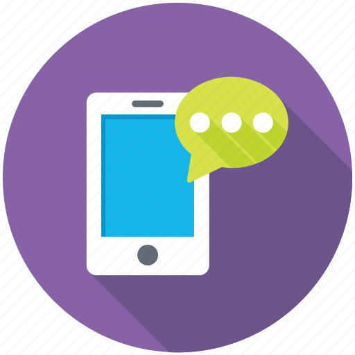 Chat bubble, mobile chatting, mobile massage, sms, text message icon - Download on Iconfinder