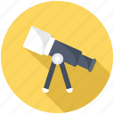 astronomy, cosmology, spyglass, telescope, vision icon