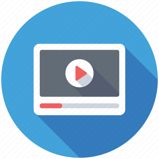 media player, multimedia, online streaming, online video, video player icon
