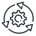 arrows, cogwheel, system, system update, update icon