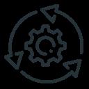 arrows, cogwheel, system, system update, update