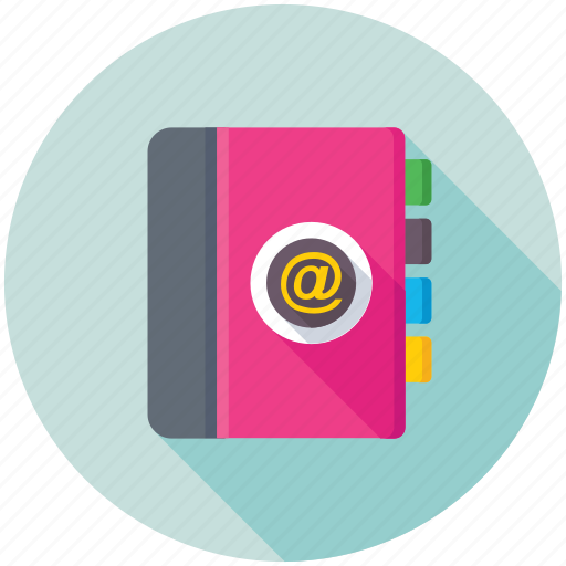 address book, contacts book, phone directory, phonebook, yellow pages icon