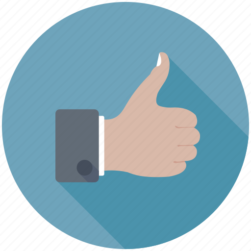 hand gesture, like, ok, thumbs up, well done icon