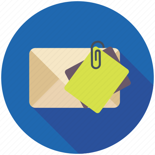 email attachment, inbox, mail file, online communication, online correspondence icon