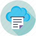 cloud computing, cloud docs, digital storage, online docs, sky docs icon