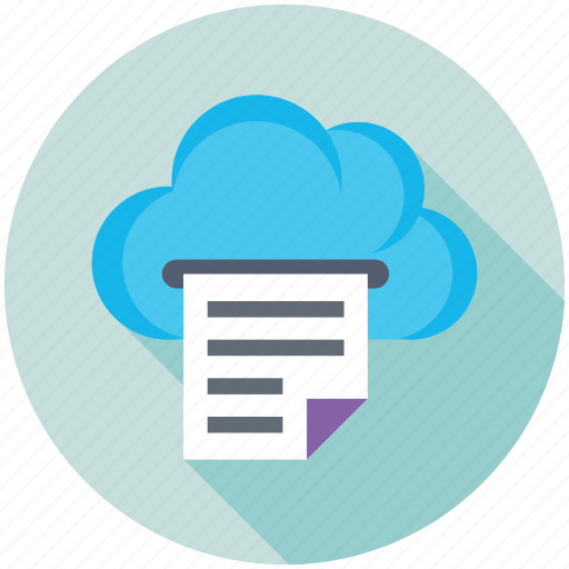 Cloud computing, cloud docs, digital storage, online docs, sky docs icon - Download on Iconfinder