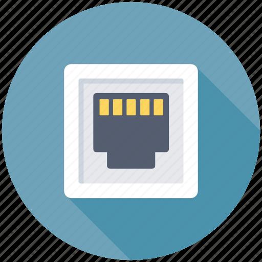 ethernet port, ethernet socket, lan port, lan socket, network connection icon