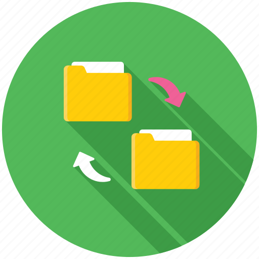 copy folder, folder exchange, folder share, folder sync, folder transfer icon