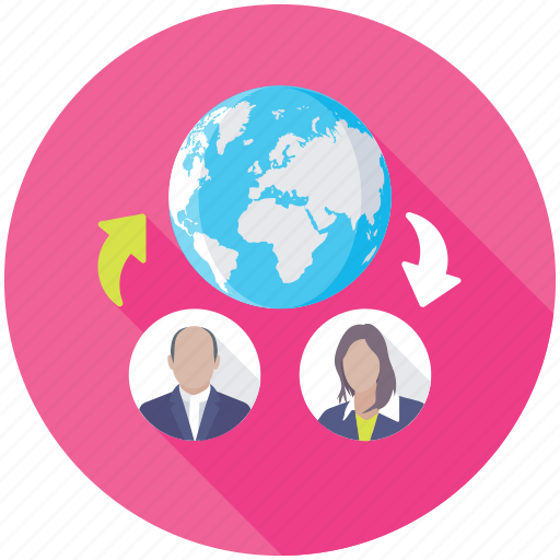 global communication, globalization, online collaboration, social community, social network icon