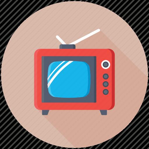 old tv, retro tv, television, tv, tv screen icon