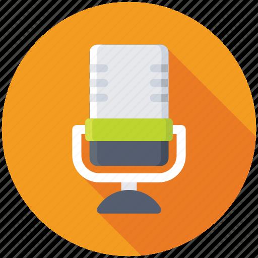 mic, microphone, radio mic, recording studio, studio mic icon