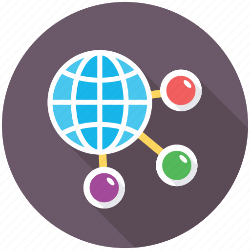 global communication, global connection, global coverage, global network, information technology icon