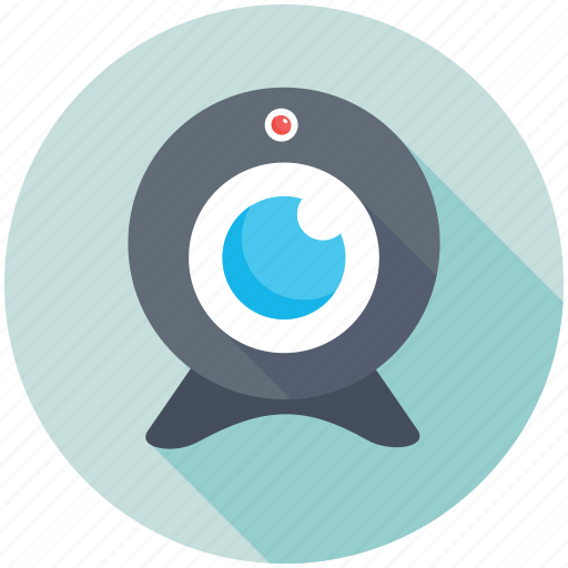 Webcam, video chatting, live camera, web camera, computer camera icon