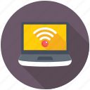 laptop wifi, wifi connection, wifi network, wifi signals, wireless internet icon