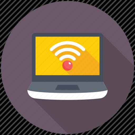 laptop wifi, wifi connection, wifi network, wifi signals, wireless internet icon
