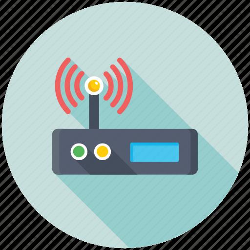 Broadband, wifi signals, wifi router, wireless internet, wifi modem icon