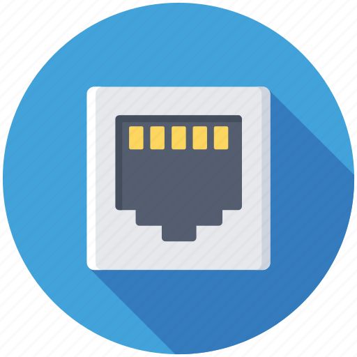 ethernet port, ethernet socket, lan port, lan socket, network connection icon