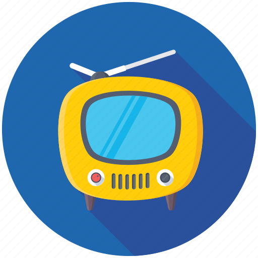 idiot box, retro tv, television, tv monitor, tv set icon
