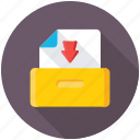 data storage, extract folder, folder download, folder with arrow, data download