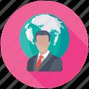 social user, global user, global employee, global businessman, internet user icon