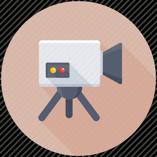 cinema, film camera, movie camera, video production, video recording icon
