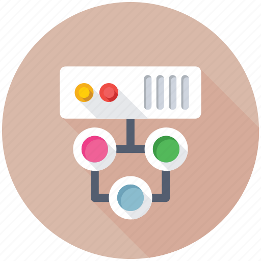 Databank, database, network hosting, networking, server network icon - Download on Iconfinder