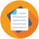 document, letter, report, text document, text file icon