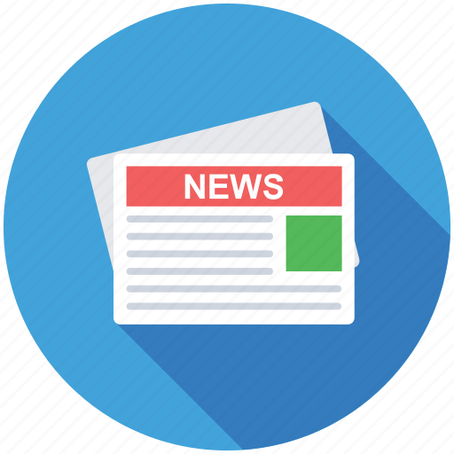 Newspaper, journal, newsletter, publication, news article icon