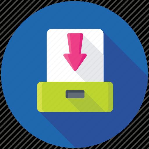 data download, data storage, extract folder, folder download, folder with arrow icon
