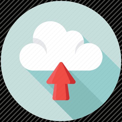 cloud computing, cloud data center, cloud data sharing, cloud network, cloud uploading icon