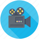 cinema, film camera, movie camera, video production, video recording icon