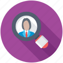 employment, human resource, recruitment, searching staff, talent search icon