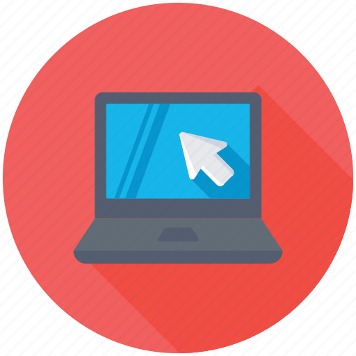 laptop click, laptop cursor, laptop mouse, laptop screen arrow, mouse pointer arrow icon