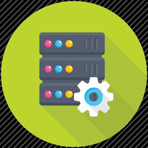 data center, database configuration, database setting, network monitoring, web hosting icon