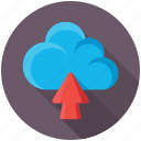 cloud computing, cloud data center, cloud data sharing, cloud network, cloud uploading icon