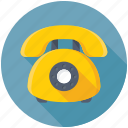 contact us, landline, retro telephone, telecommunication, telephone icon