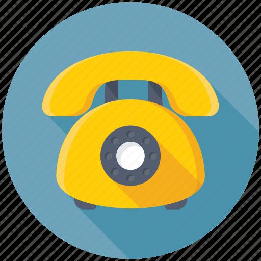 contact us, landline, retro telephone, telecommunication, telephone icon