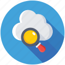 cloud and loup, cloud computing, cloud magnifier, internet cloud, search cloud icon