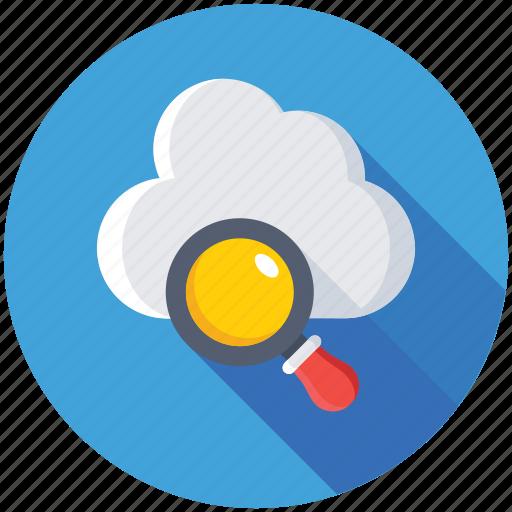cloud and loup, cloud computing, cloud magnifier, internet cloud, search cloud icon