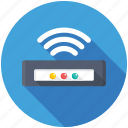 broadband, wifi modem, wifi router, wifi signals, wireless internet icon