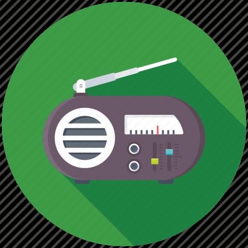 old radio, radio, radio set, radio station, retro radio icon