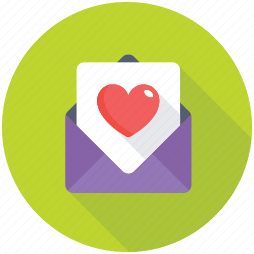 love greeting, love letter, love note, love wishes, valentine card icon