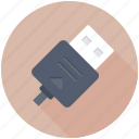 data cable, usb cable, usb cord, usb jack, usb plug icon