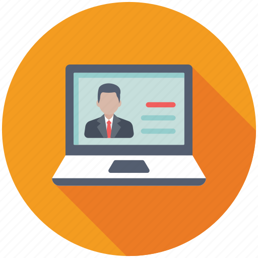 live chat, online consulting, online support, video chat, video conference icon