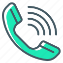 telephone, call, handset, receiver, communication, call centre icon
