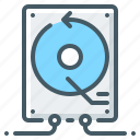 backup, backup system, hdd, system icon