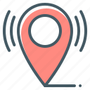 gps, location, navigation, pin icon